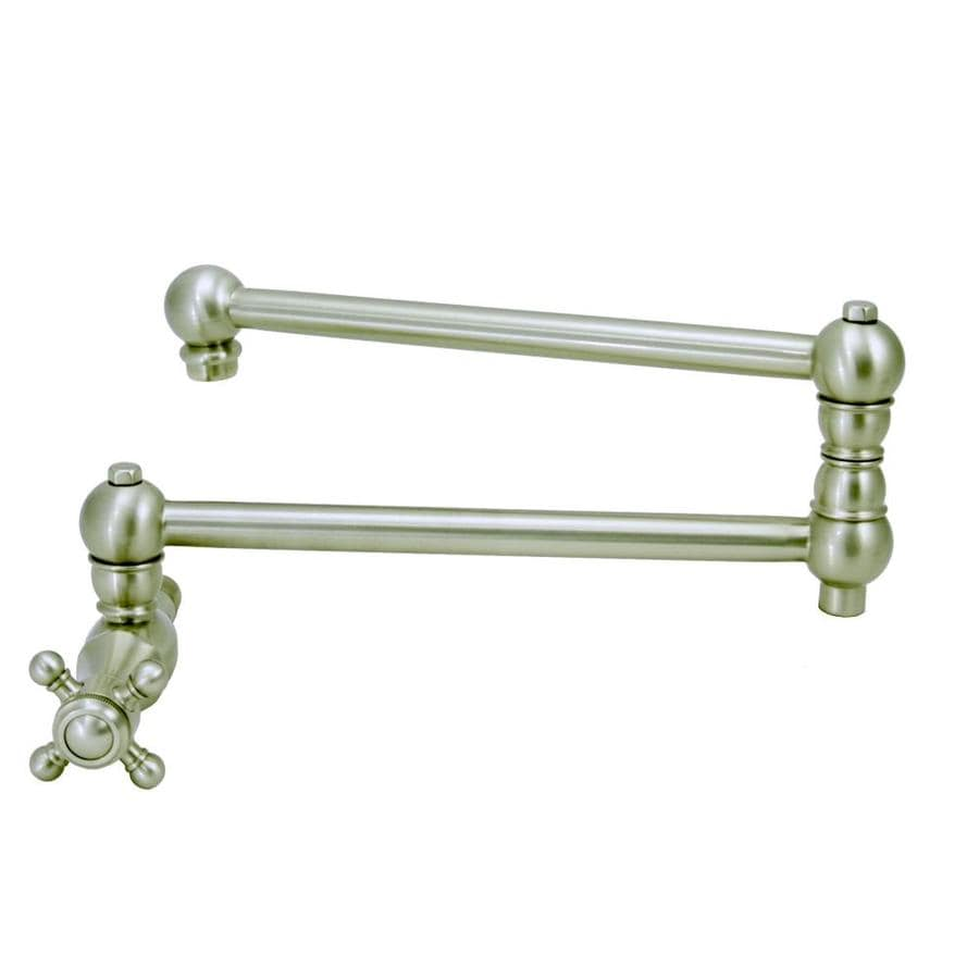 Pot Sink Faucet : ... Pot Filler Satin Nickel 1-Handle Pull-Out Wall Mount Kitchen Faucet at