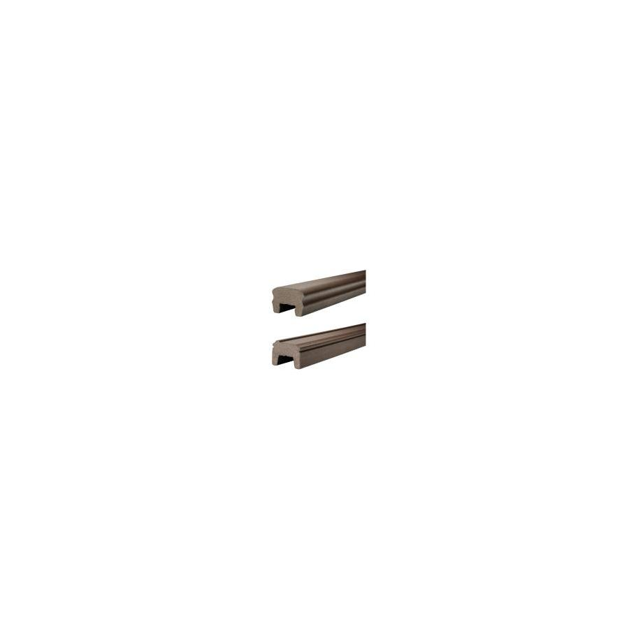 Trex 72-in Woodland Brown Composite Deck Railing Kit