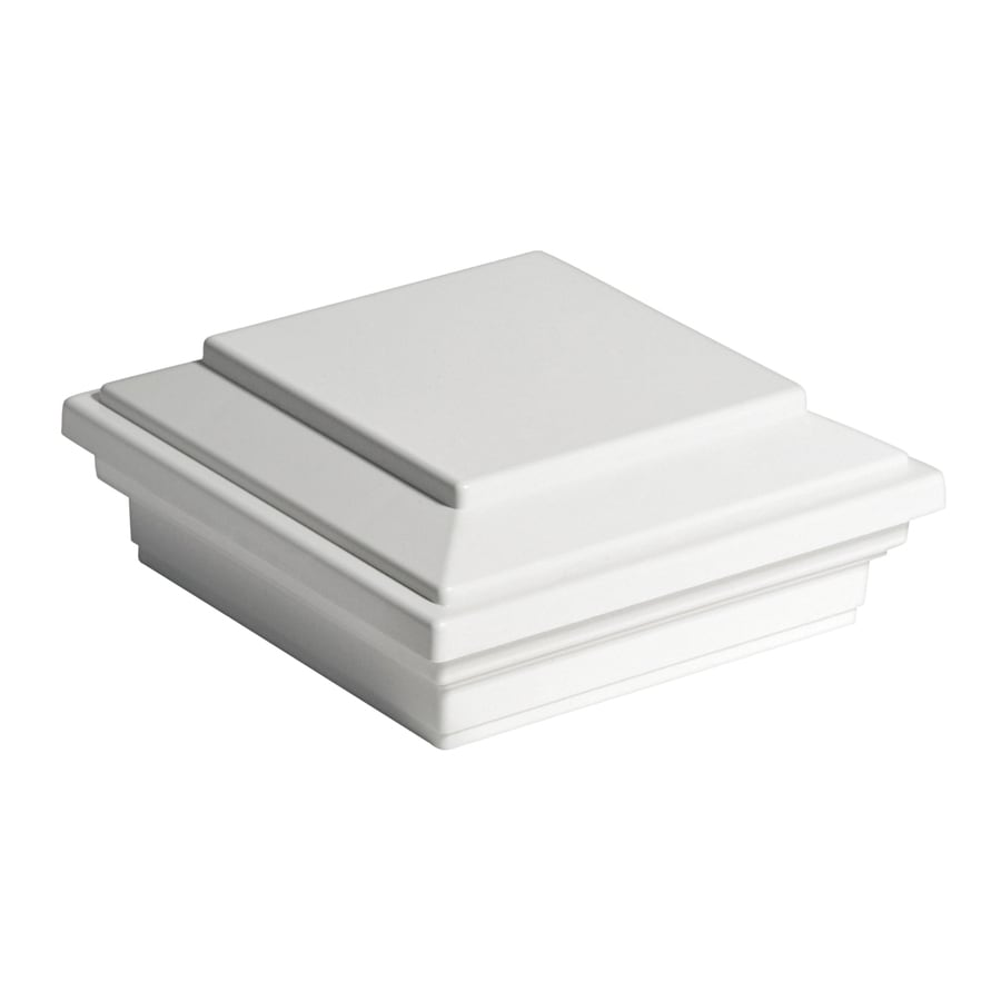 Trex (Fits Common Post Measurement: 4-in x 4-in; Actual: 2.35-in x 4.55-in x 4.55-in) Transcend Classic White Deck Post Cap