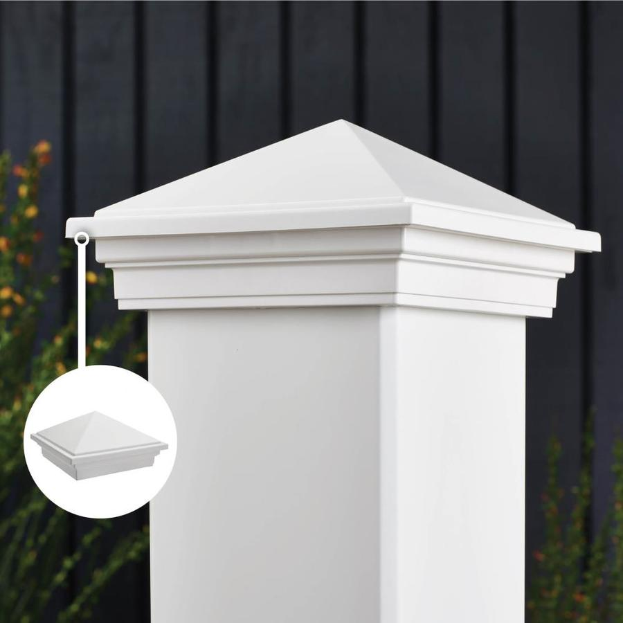 Trex (Fits Common Post Measurement: 4-in x 4-in; Actual: 3.125-in x 5.55-in x 5.55-in) Transcend Classic White Deck Post Cap