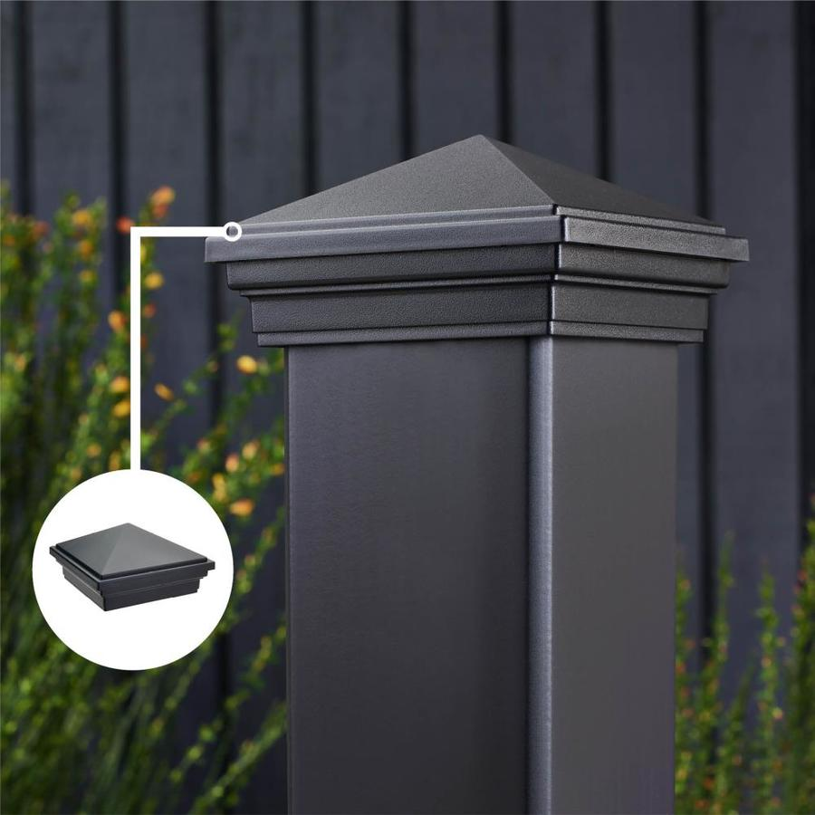 Trex (Fits Common Post Measurement: 4-in x 4-in; Actual: 3.125-in x 4.5-in x 4.5-in) Transcend Charcoal Black Composite Deck Post Cap