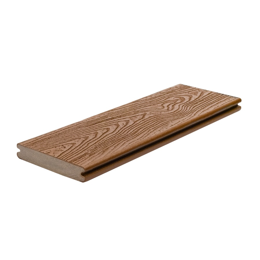 Trex (Actual: 0.94-in x 5.5-in x 12-ft) Transcend Tree House Grooved Composite Deck Board
