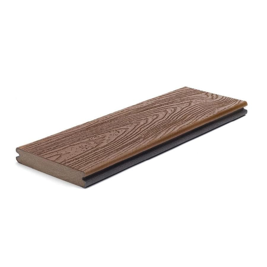 Trex Transcend Fire Pit Groove Composite Deck Board (Actual: 0.94-in x 5.5-in x 12-ft)
