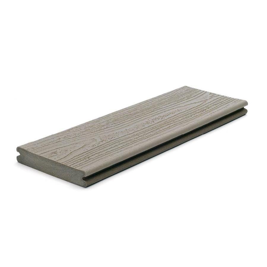 Trex (Actual: 0.94-in x 5.5-in x 20 Feet) Transcend Gravel Path Grooved Composite Deck Board