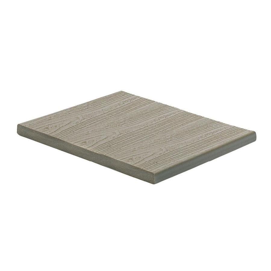 Trex (Actual: 0.56-in x 11.375-in x 12-ft) Transcend Gravel Path Square Composite Deck Board