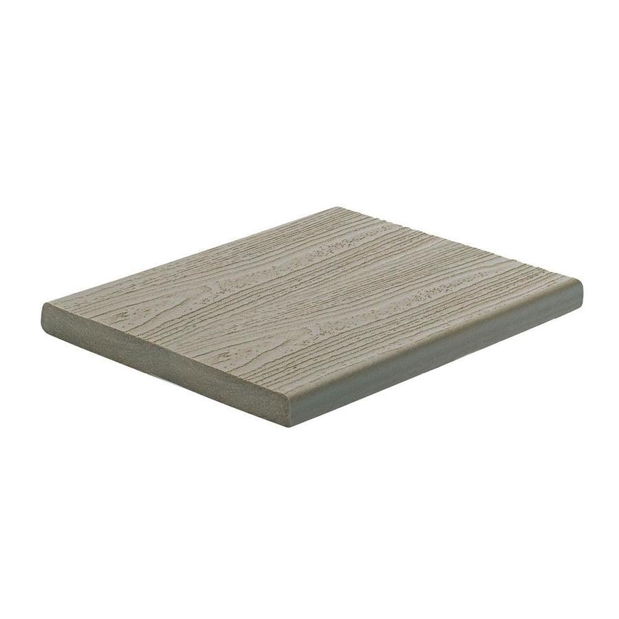 Trex (Actual: 0.56-in x 7.25-in x 12-ft) Transcend Gravel Path Square Composite Deck Board