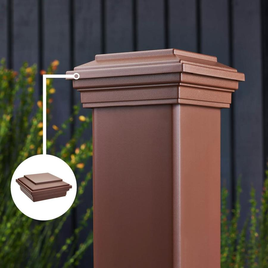 Trex (Fits Common Post Measurement: 4-in x 4-in; Actual: 2.35-in x 4.5-in x 4.5-in) Transcend Fire Pit Composite Deck Post Cap