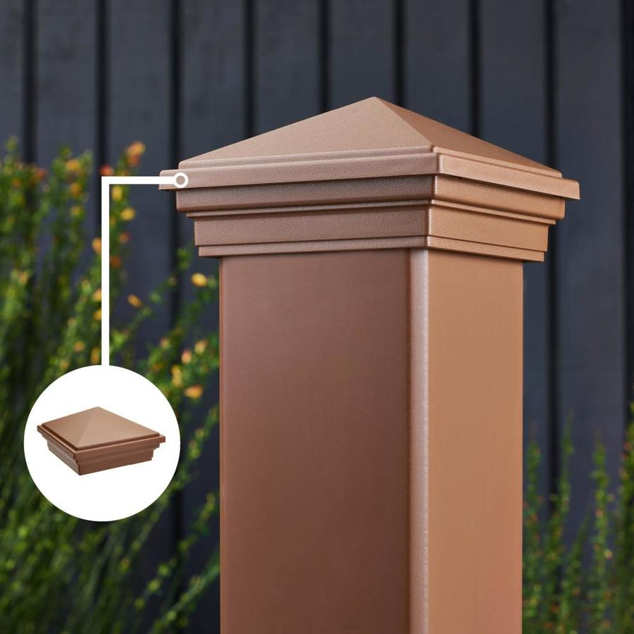 Trex (Fits Common Post Measurement: 4-in X 4-in; Actual: 3.125-in x 4.55-in x 4.55-in) Transcend Tree House Composite Deck Post Cap