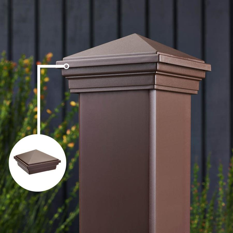 Trex (Fits Common Post Measurement: 4-in X 4-in; Actual: 3.125-in x 4.55-in x 4.55-in) Transcend Vintage Lantern Composite Deck Post Cap