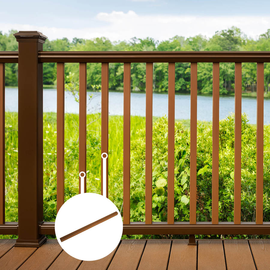 Trex (Common:; Actual: 1.418-in x 1.418-in x 30.375-in) Transcend Tree House Composite (Not Wood) Deck Baluster