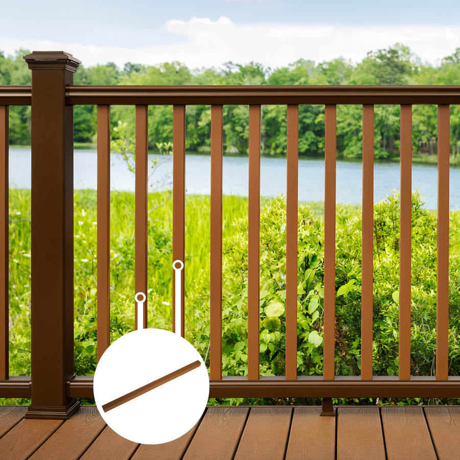 Trex (Common: 2-in x 2-in x 36-in; Actual: 1.418-in x 1.418-in x 37-in) Transcend Tree House Composite Deck Baluster