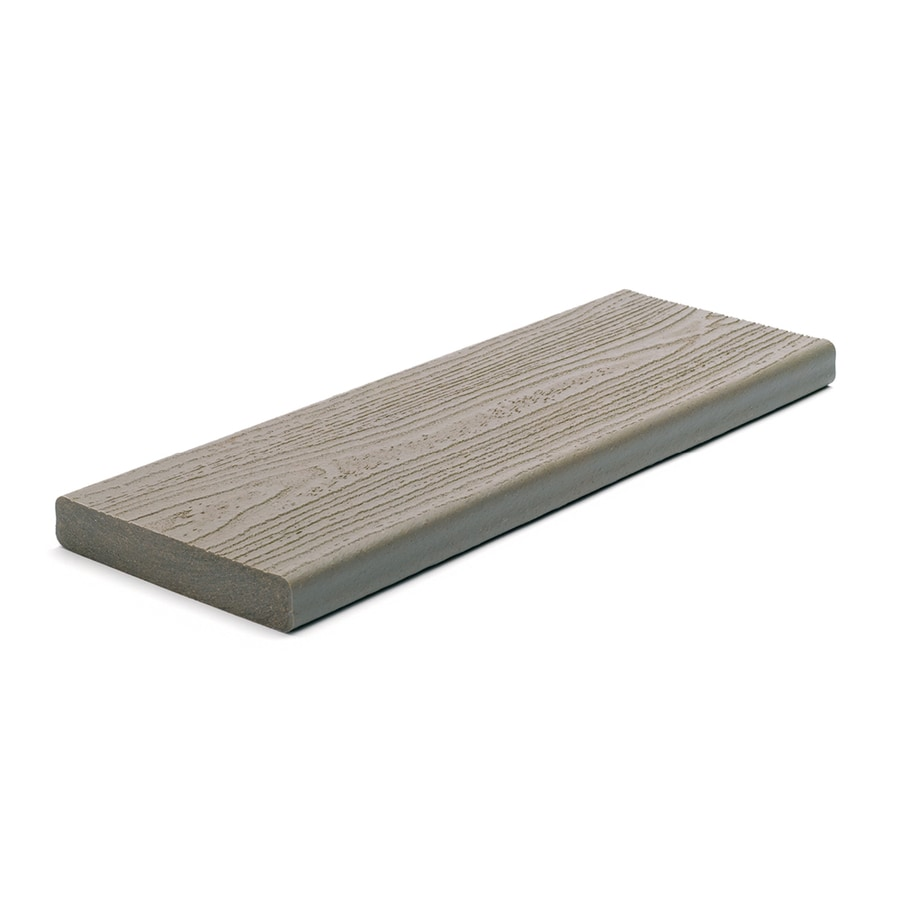 Trex (Actual: 0.94-in x 5.5-in x 20-ft) Transcend Gravel Path Square Composite Deck Board