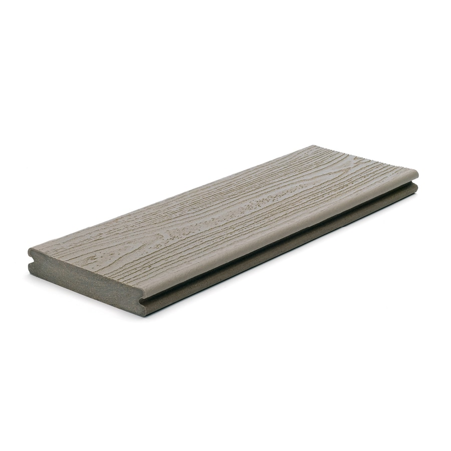 Trex (Actual: 0.94-in x 5.5-in x 12-ft) Transcend Gravel Path Grooved Composite Deck Board