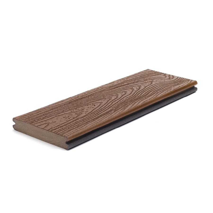 Trex (Actual: 0.94-in x 5.5-in x 16-ft) Transcend Fire Pit Grooved Composite Deck Board
