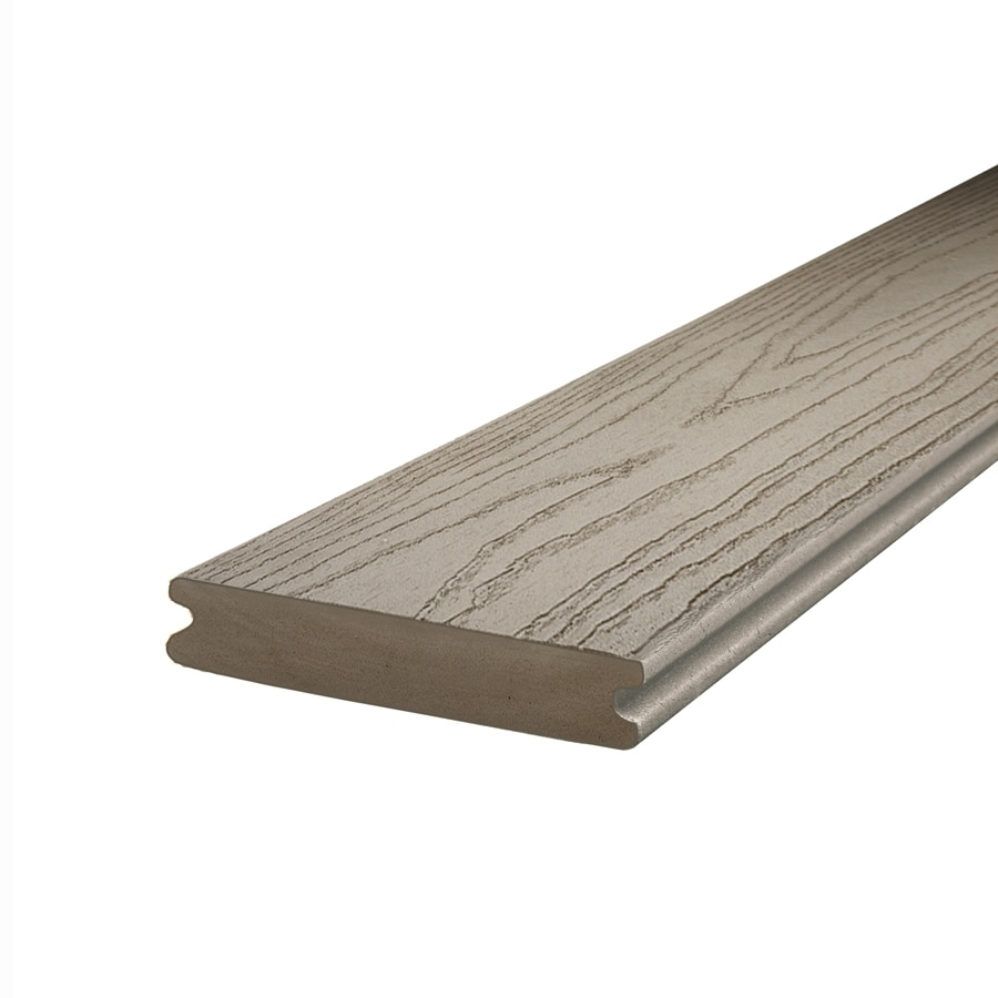Shop trex composite deck board actual 1 in x 5 5 in at for Composite deck boards reviews