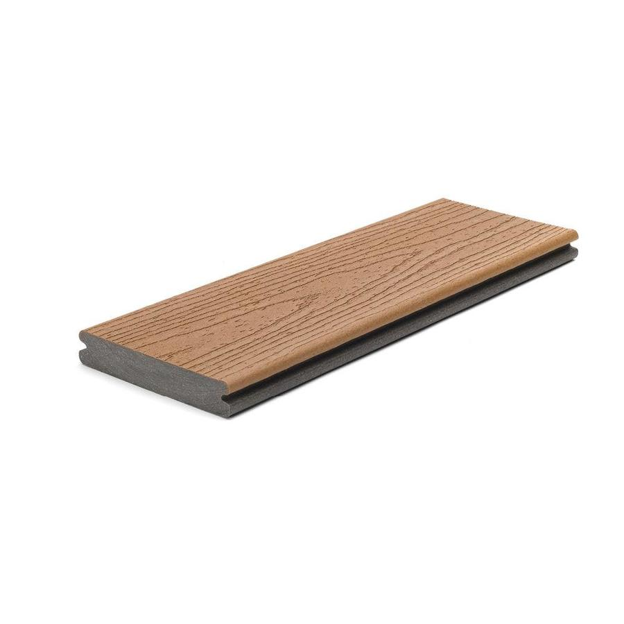 Trex (Actual: 0.94 x 5.5 x 16.0) Enhance Beach Dune Grooved Composite Deck Board