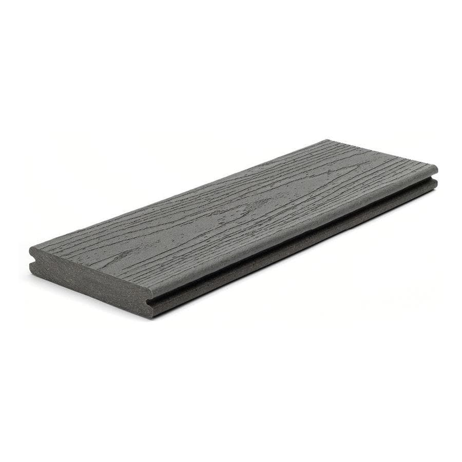 Shop trex actual x 5 5 in x 12 ft enhance clam for Composite decking boards