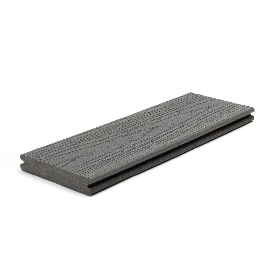 Trex (Actual: 0.94-in x 5.5-in x 12-ft) Enhance Clam Shell Grooved Composite Deck Board