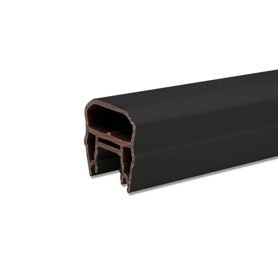 Trex Transcend Charcoal Black Composite Deck Top Rail Common: 6-ft; Actual: 3-in x 3.63-in x 5.625-ft)