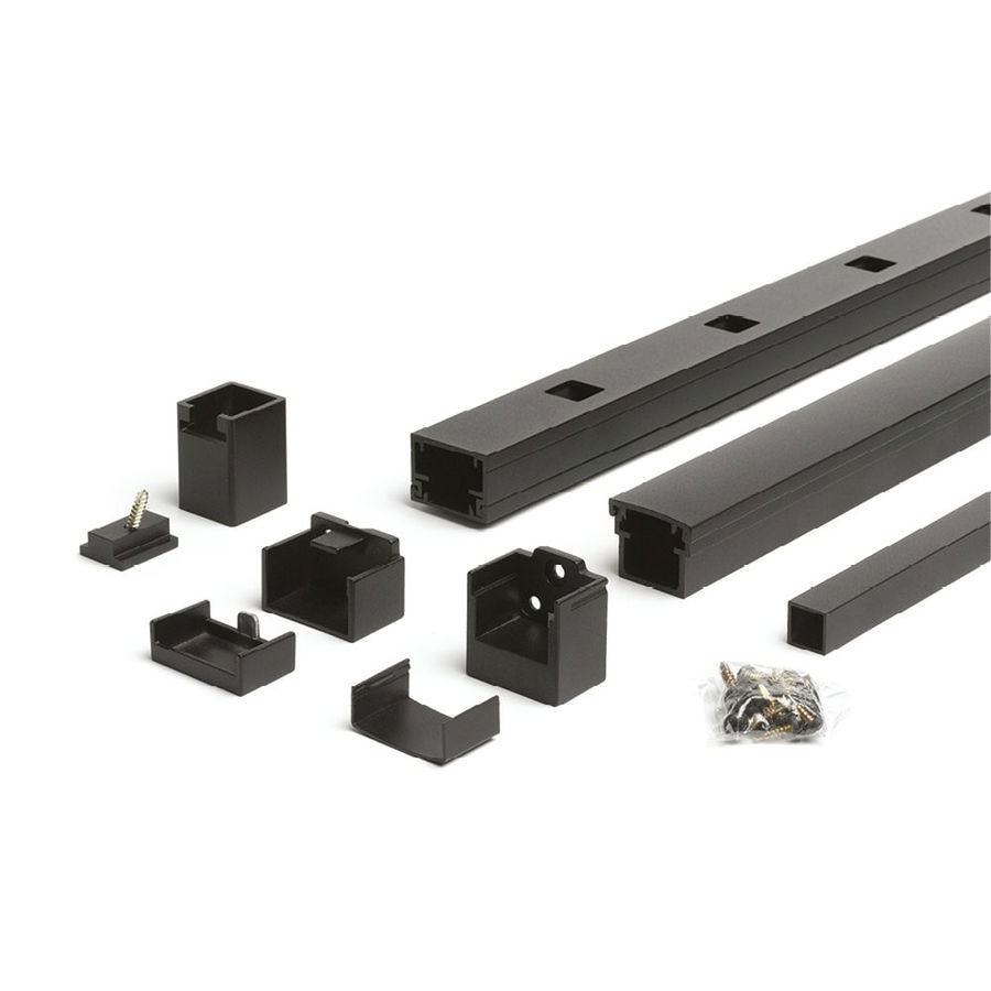 Trex Reveal Railing 4.25-in x 3.25-in Charcoal Black Aluminum Porch Railing