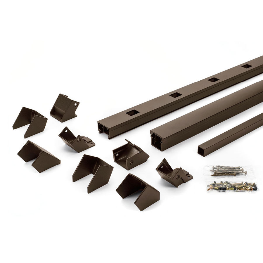 Trex Reveal Railing 4.25-in x 3.25-in Bronze Aluminum Porch Railing
