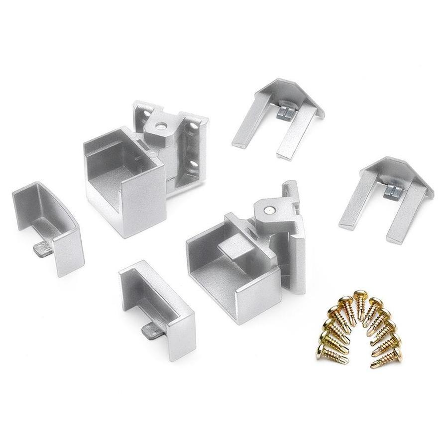Trex 15-Pack Classic White Zinc Swivel Handrail Brackets