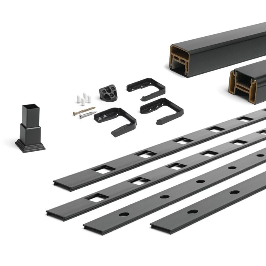 Trex (Assembled: 5.625-ft x 3-ft) Charcoal Black Composite Deck Railing Kit