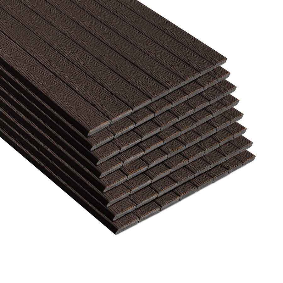 Trex (Actual: 0.8200-in x 5.5000-in x 12-ft) Select land Brown Composite Deck Board