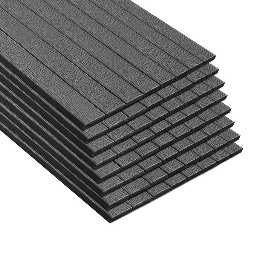 Trex (Actual: 0.82-in x 5.5-in x 20-ft) Select Winchester Grey Square Composite Deck Board