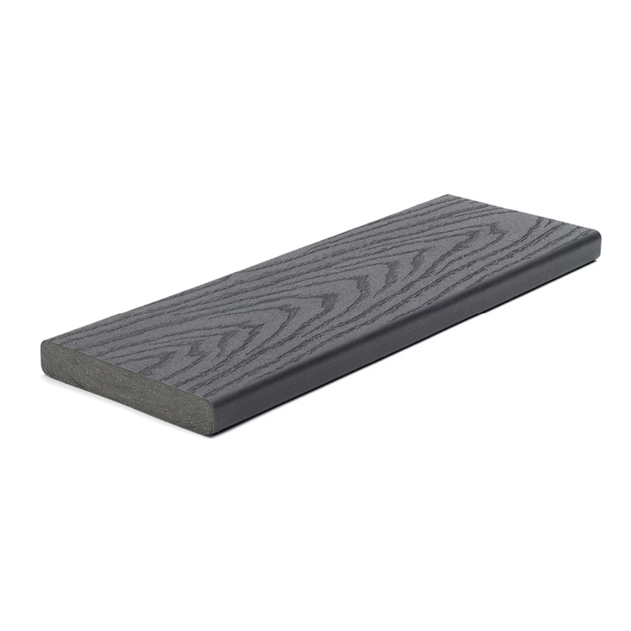 Shop trex select 16 ft winchester grey composite deck for Composite deck boards reviews
