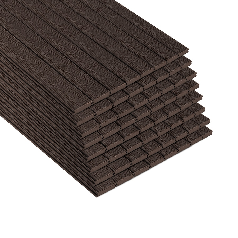 Shop trex select 12 ft woodland brown grooved composite for Composite deck boards reviews