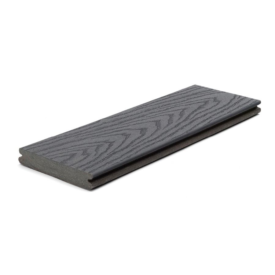 Trex (Actual: 0.82-in x 5.5-in x 12-ft) Select Winchester Grey Grooved Composite Deck Board