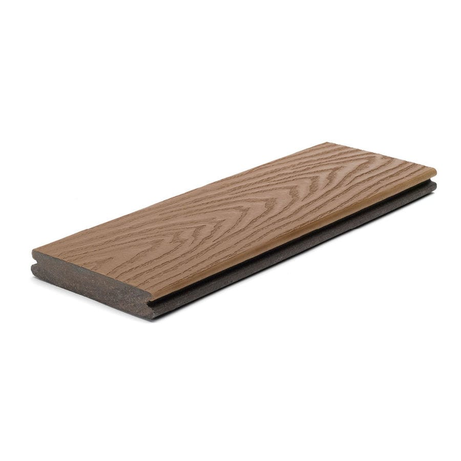 Trex (Actual: 0.82-in x 5.5-in x 16-ft) Select Saddle Grooved Composite Deck Board