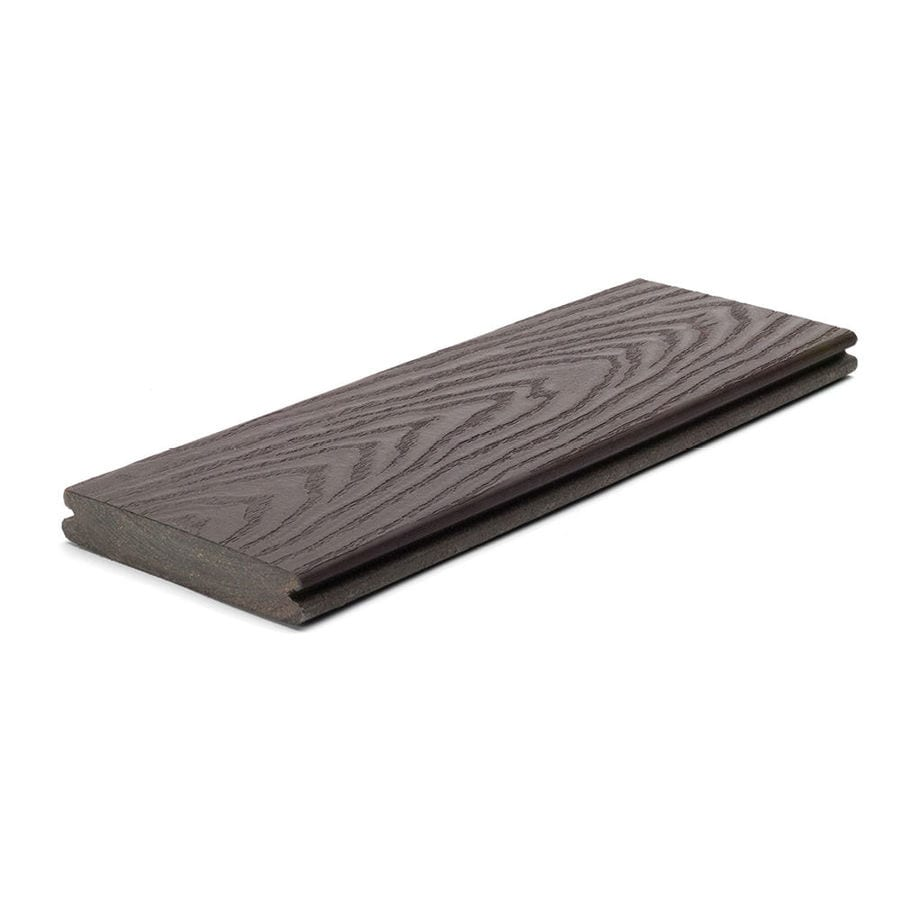 Trex (Actual: 0.82-in x 5.5-in x 16-ft) Select Woodland Brown Grooved Composite Deck Board
