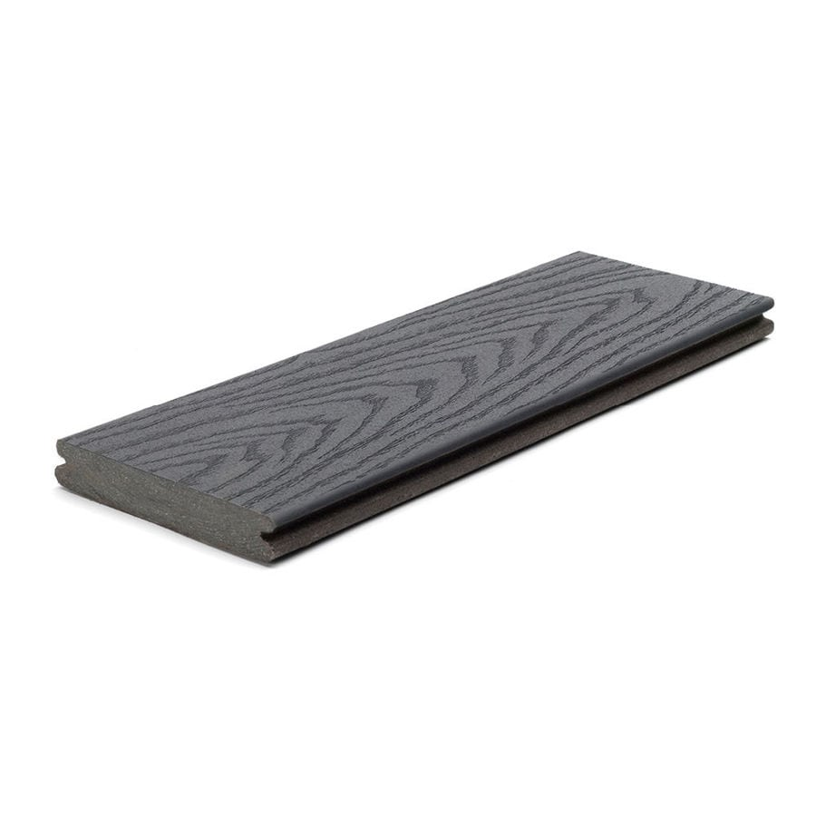 Trex (Actual: 0.82-in x 5.5-in x 20-ft) Select Winchester Grey Grooved Composite Deck Board