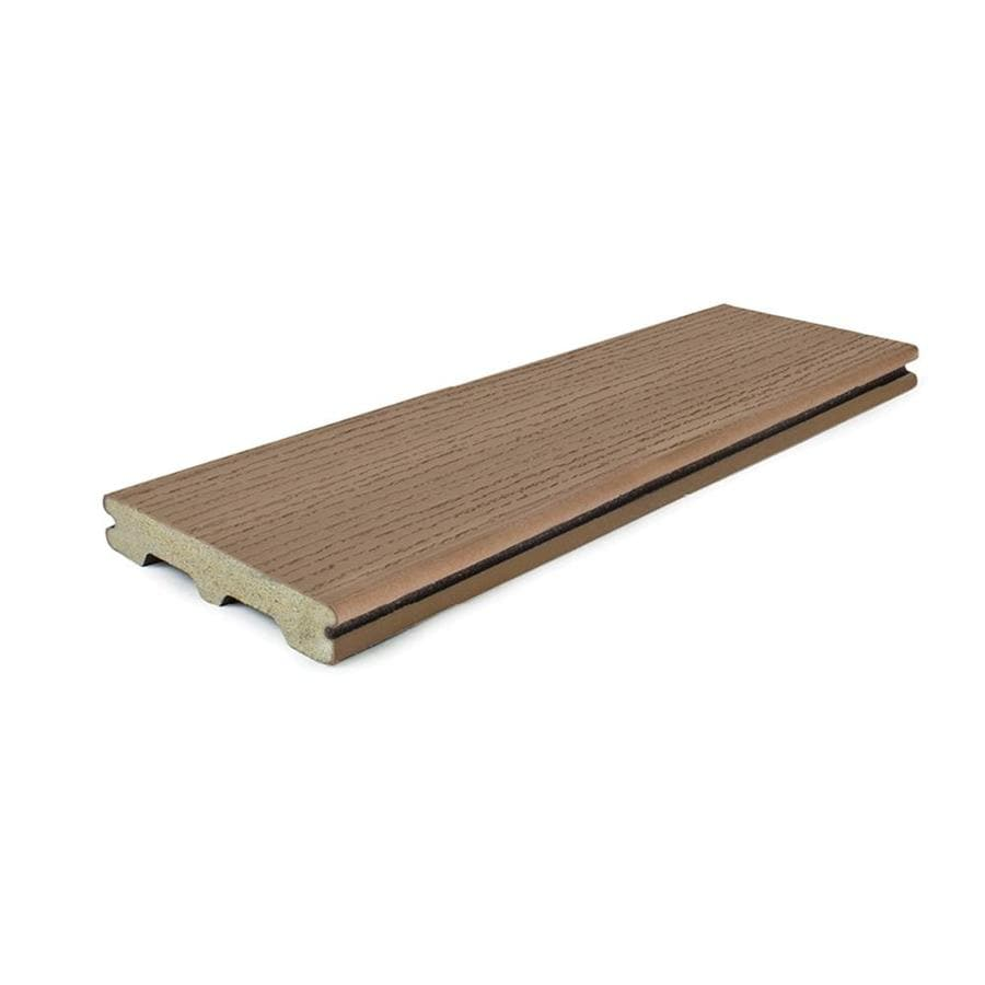 Style Selections 12-ft Natural Brown Grooved Composite Deck Board