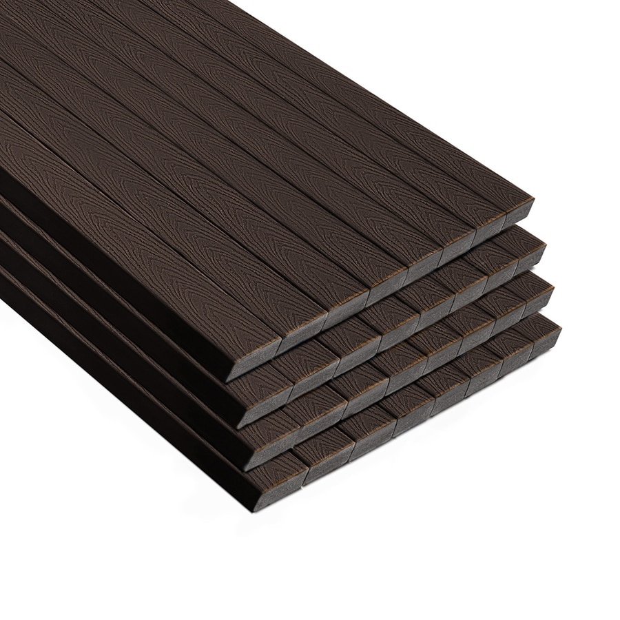 Trex (Actual: 1.3-in x 5.5-in x 16-ft) Select land Brown Composite Deck Board