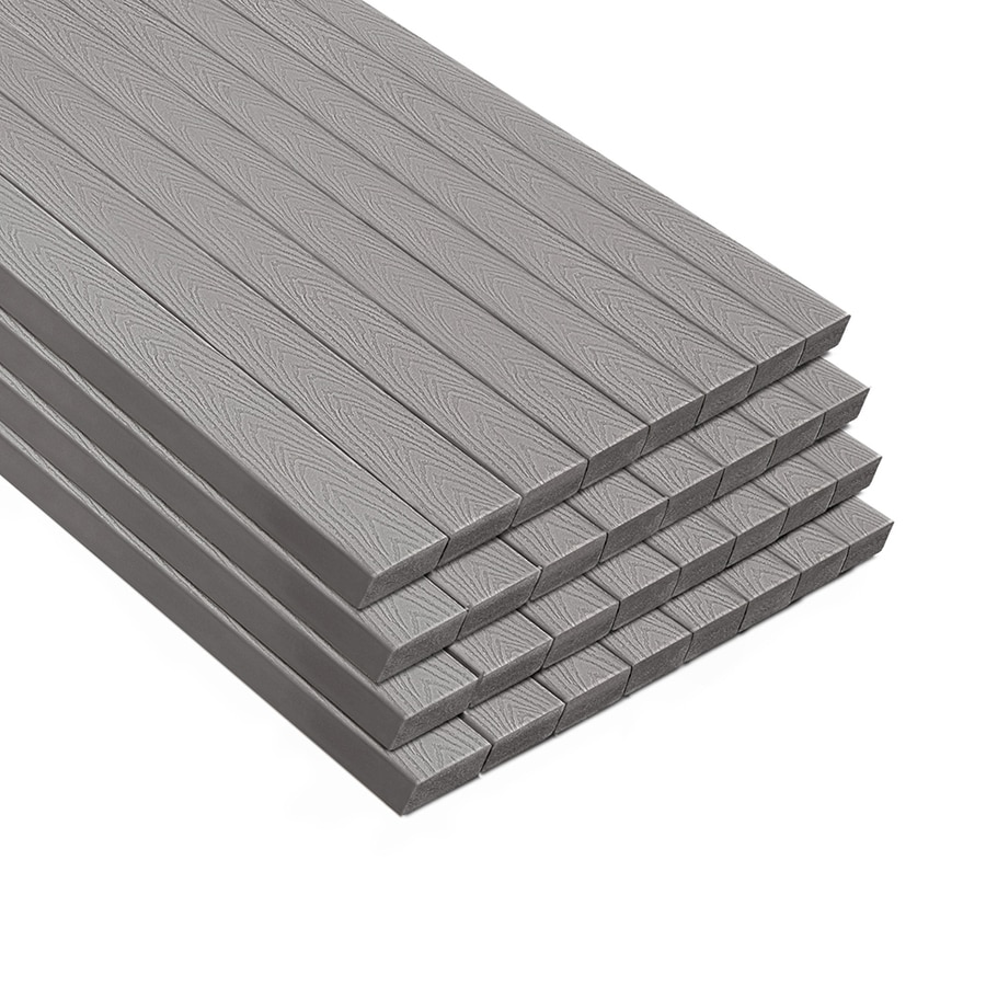 Shop trex select 16 ft pebble grey composite deck board at for Composite deck boards reviews
