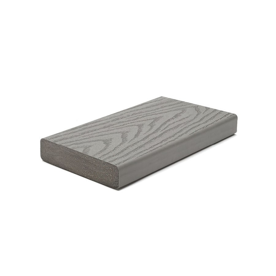 Trex (Actual: 1.3-in x 5.5-in x 12-ft) Select Pebble Grey Square Composite Deck Board