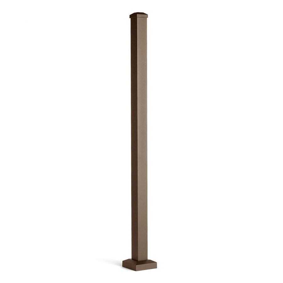 Trex (Actual: 2.5-in x 2.5-in x 3.08-ft) Signature Railing 3-Pack Bronze Aluminum Deck Post