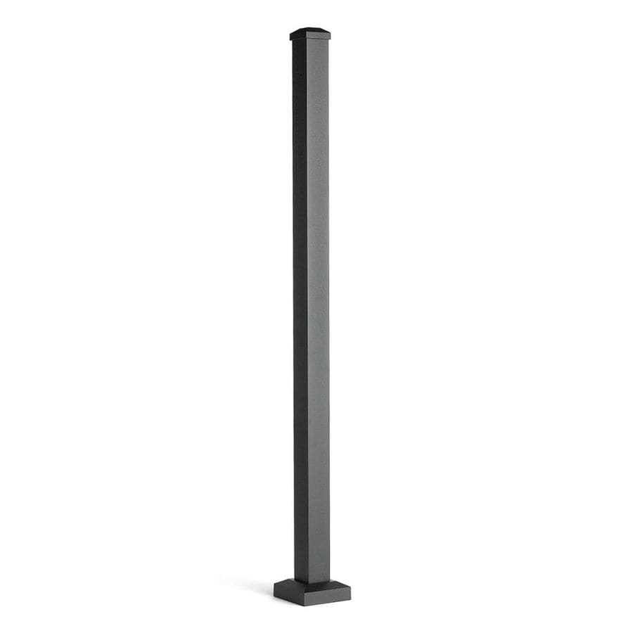 Trex (Actual: 2.5-in x 2.5-in x 3.58-ft) Signature Railing 3-Pack Charcoal Black Aluminum Deck Post