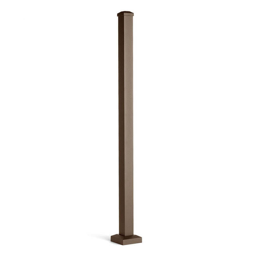 Trex (Actual: 2.5-in x 2.5-in x 3.58-ft) Signature Railing 3-Pack Bronze Aluminum Deck Post