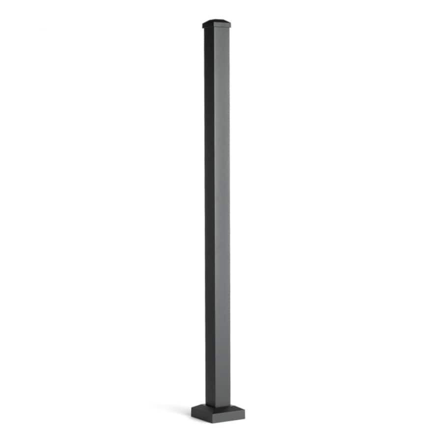 Trex (Actual: 2.5-in x 2.5-in x 4.416-ft) Signature Railing 3-Pack Charcoal Black Aluminum Deck Post