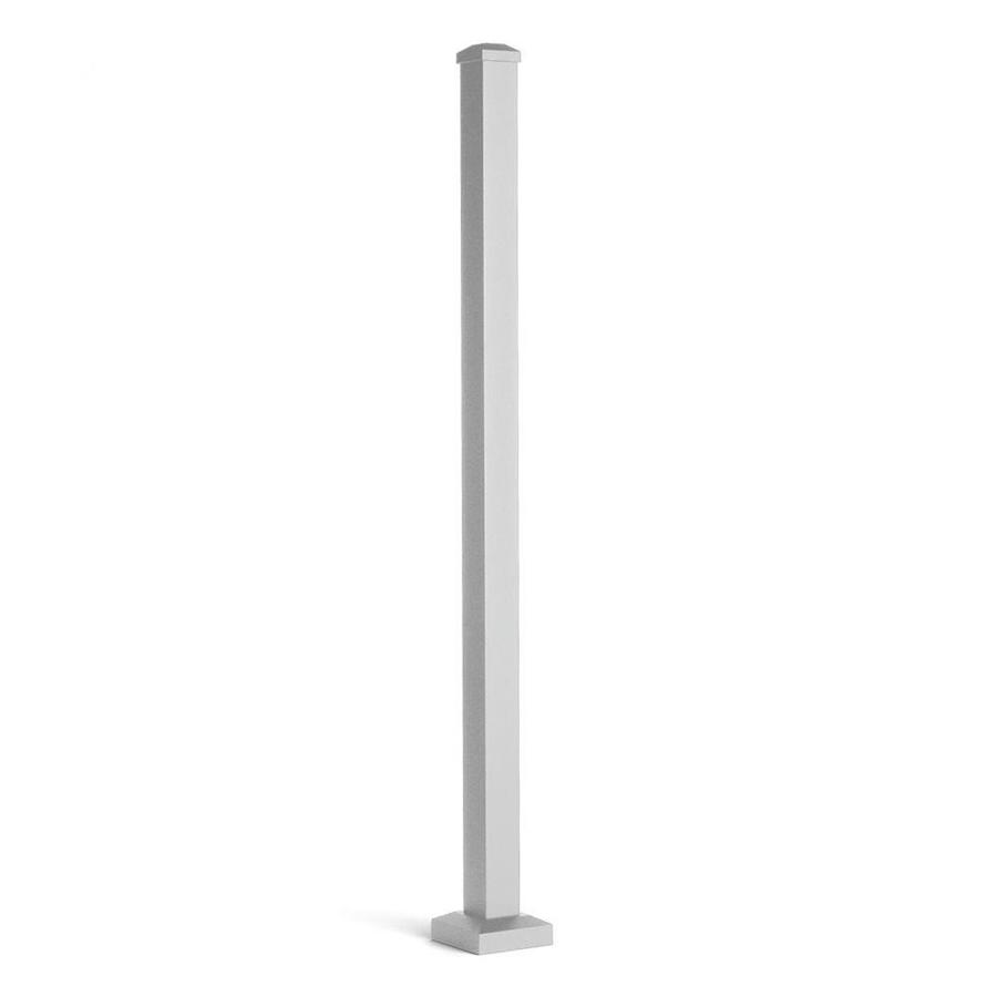 Trex (Actual: 2.5-in x 2.5-in x 4.416-ft) Signature Railing 3-Pack Classic White Aluminum Deck Post