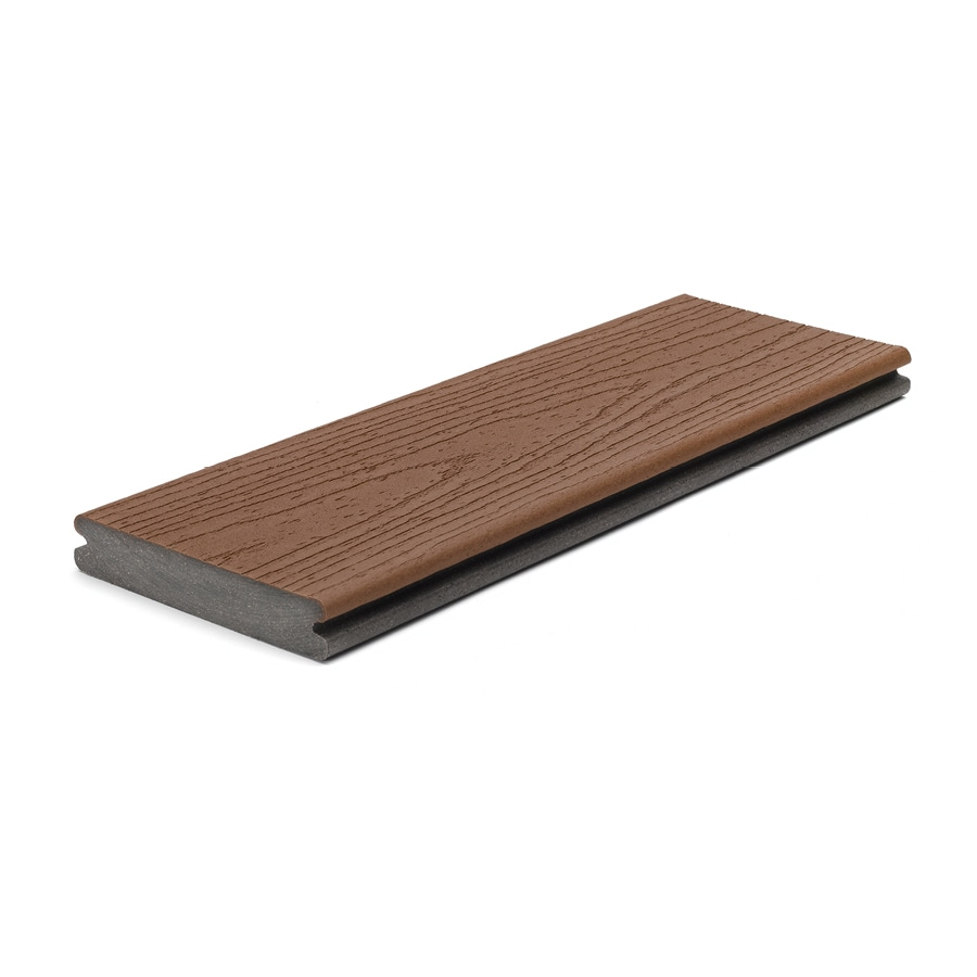 Trex (Actual: 0.94-in x 5.5-in x 12-ft) Enhance Saddle Grooved Composite Deck Board