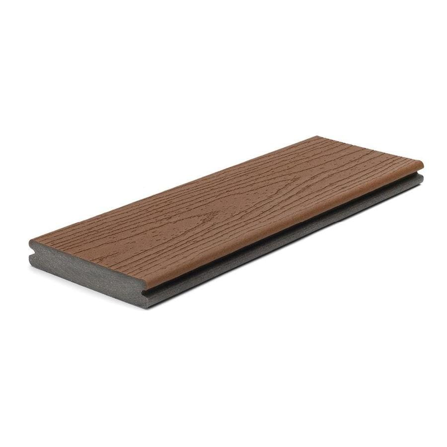 Trex Enhance Saddle Groove Composite Deck Board (Actual: 0.94-in x 5.5-in x 12-ft)