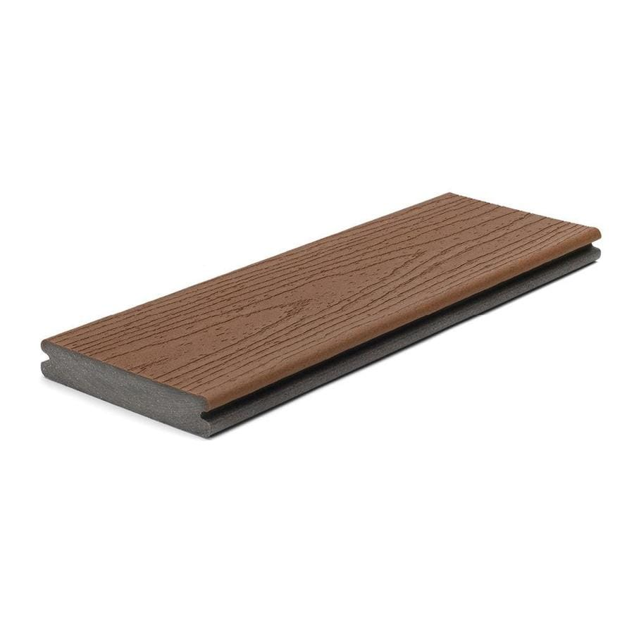 Shop trex enhance 16 ft saddle grooved composite deck for Best composite decking material reviews