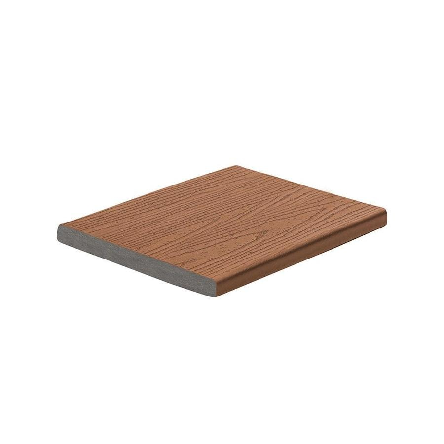 Trex (Actual: 0.56-in x 7.25-in x 12 Feet) Enhance Saddle Square Composite Deck Board