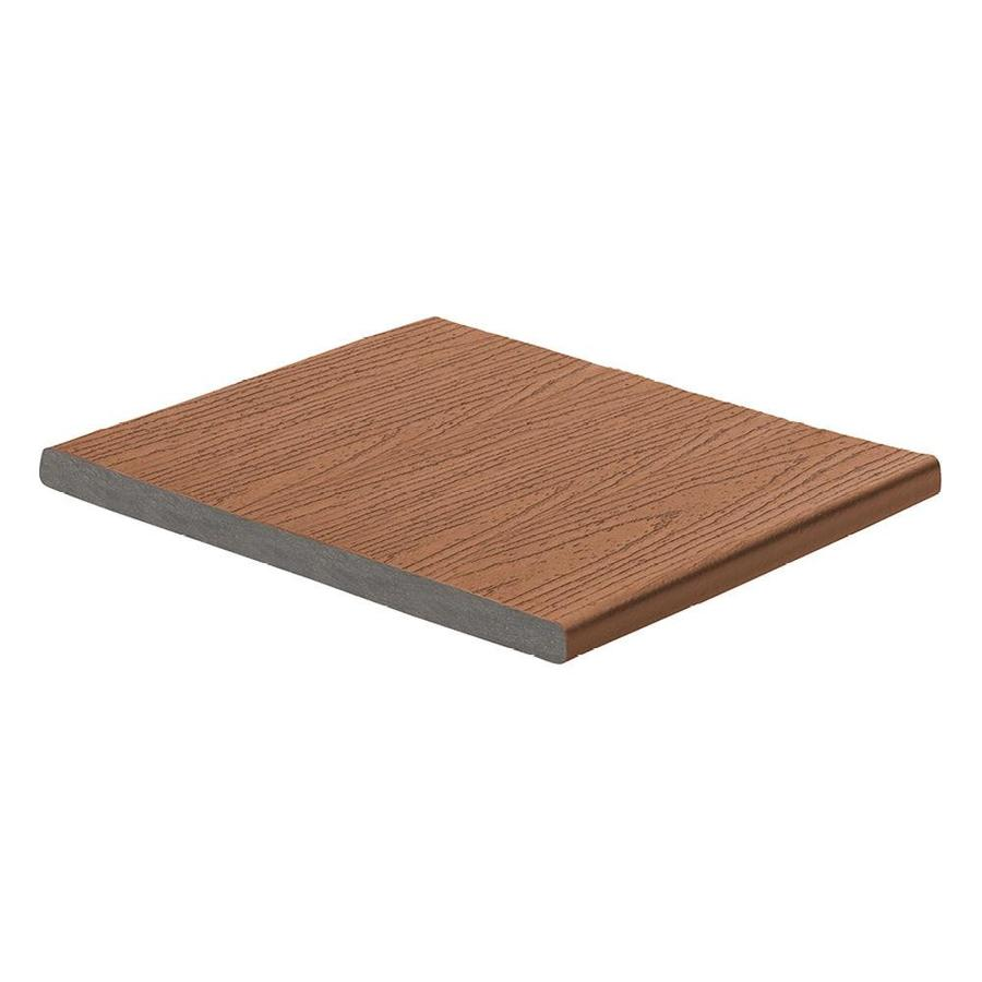 Trex (Actual: 0.56-in x 11.375-in x 12 Feet) Enhance Saddle Square Composite Deck Board