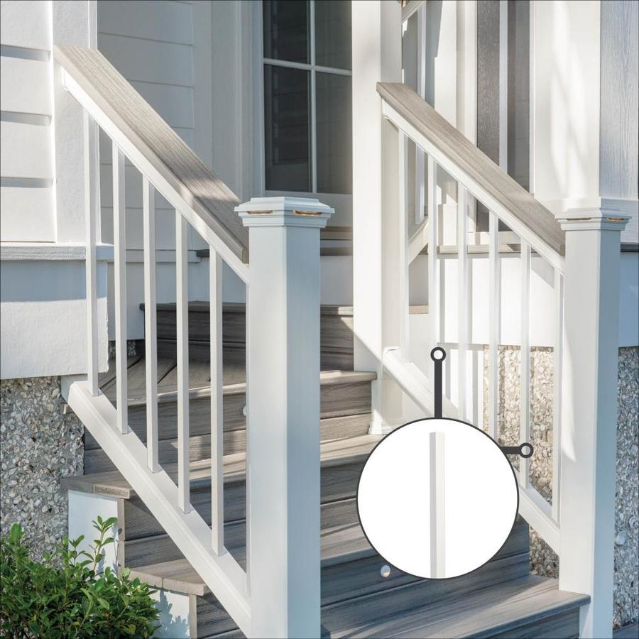 Trex (Common:; Actual: 0.75-in x 0.75-in x 36.25-in) Transcend Classic White Aluminum Deck Baluster
